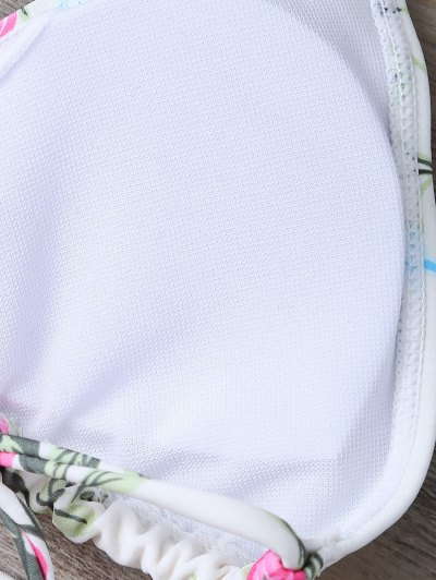 Floral Print High Waisted Bikini Set - FLORAL S Mobile