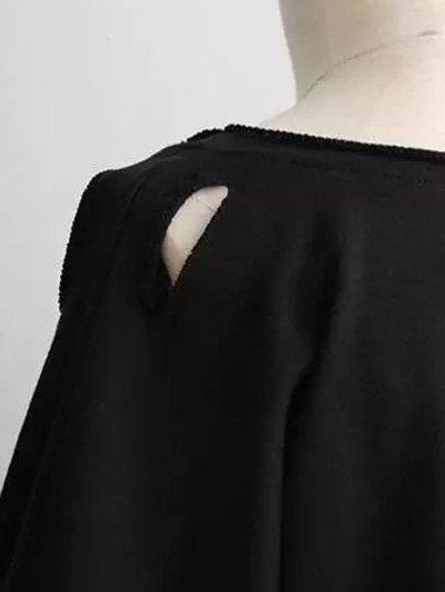 Boyfriend Drop Shoulder Ripped Sweatshirt - LIGHT GRAY ONE SIZE Mobile