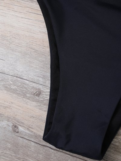 High Neck Tasselled Bohemian Bikini - BLACK M Mobile