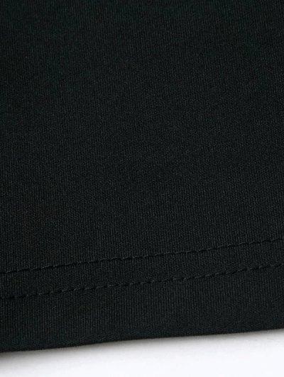 Banded Cropped T-Shirt - BLACK L Mobile