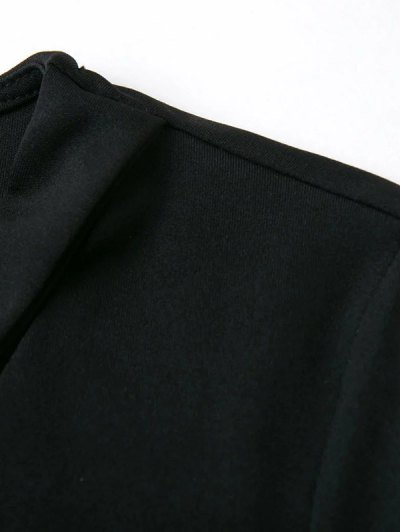 Banded Cropped T-Shirt - BLACK M Mobile