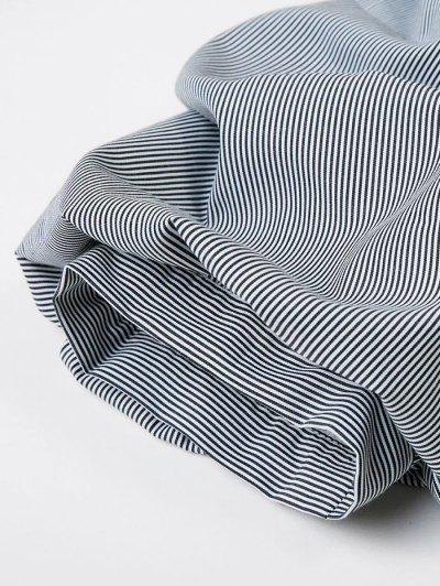 Bowknot Striped Surplice Blouse - STRIPE M Mobile