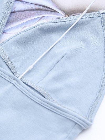 Elastic Spaghetti Strap Mini Bodycon Dress - LIGHT BLUE M Mobile