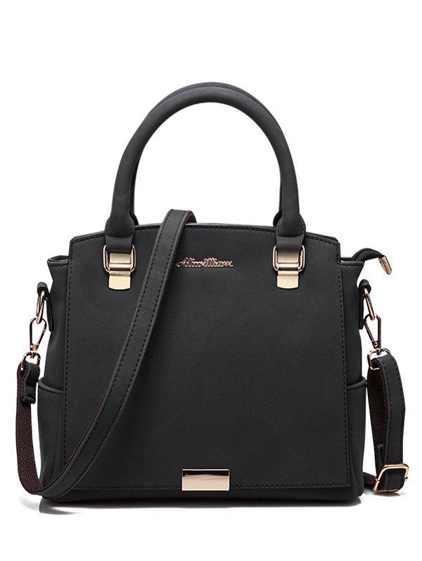 Double Pocket Zipper Tote Bag