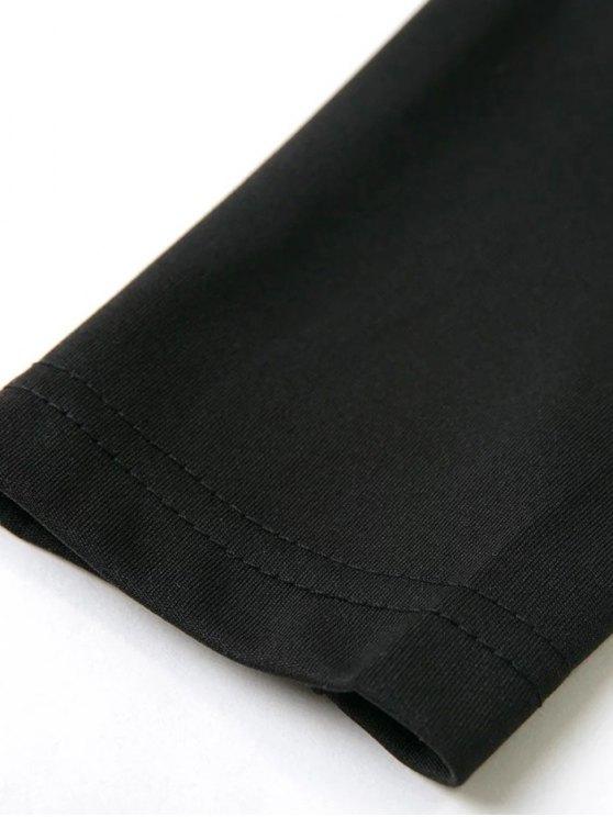 Long Sleeved Off The Shoulder Top - BLACK M Mobile