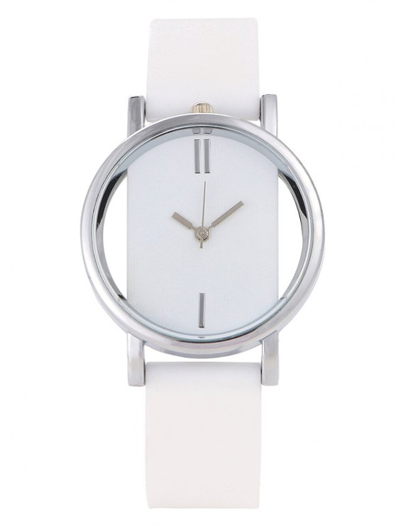 Analog Silicone Wrist Watch - WHITE  Mobile