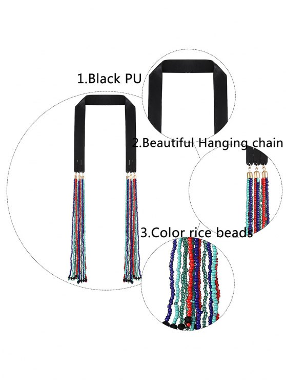 Faux Leather Beads Necklace - COLORFUL  Mobile
