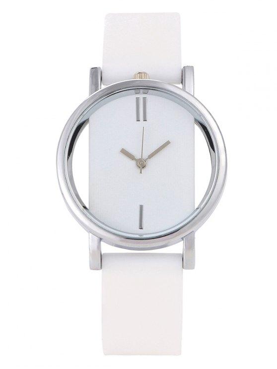 Analog Silicone Wrist Watch - WHITE  Mobile