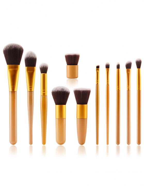 Makeup Brushes + Air Puffs + Beauty Blender - YELLOW  Mobile