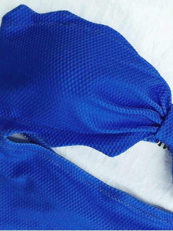 High Cut Bandeau Swimsuit - BLUE S Mobile