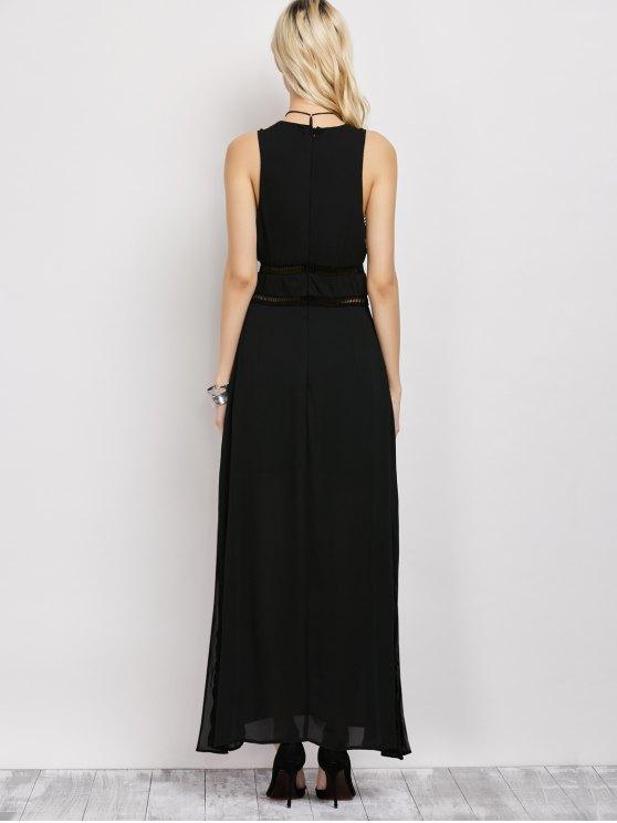 Slit Cut Out Prom Dress - BLACK L Mobile