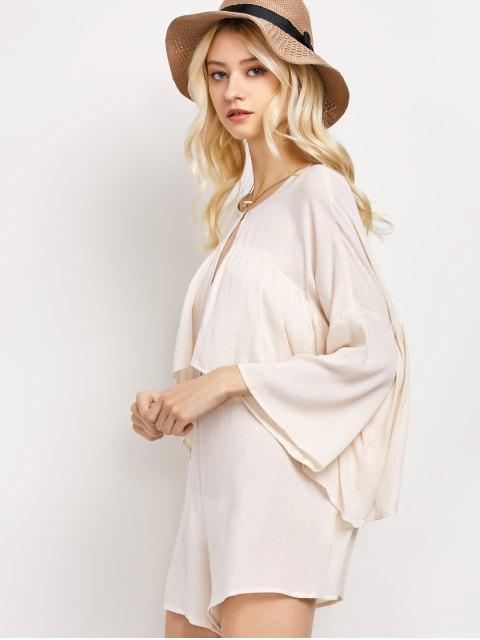 fashion Flounce Ruffles Chiffon Romper - APRICOT XL Mobile