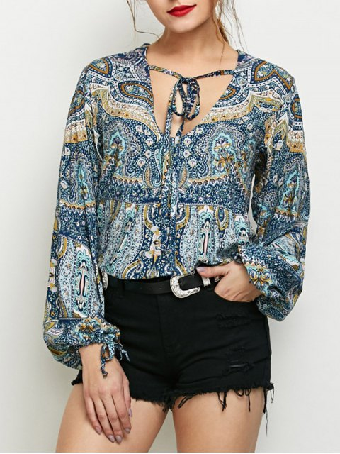 outfit Bubble Sleeve Boho Top - COLORMIX 2XL Mobile