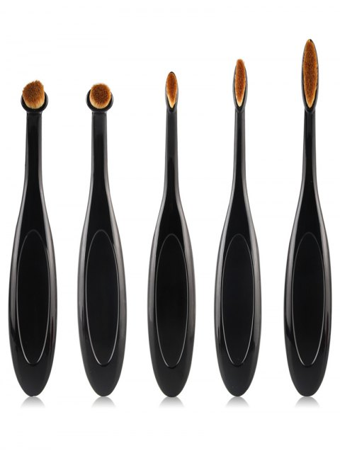 fashion Makeup Brushes and Air Puffs - BLACK  Mobile