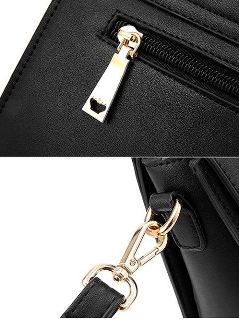 women's Metal Embellished Faux Leather Handbag - GRAY  Mobile