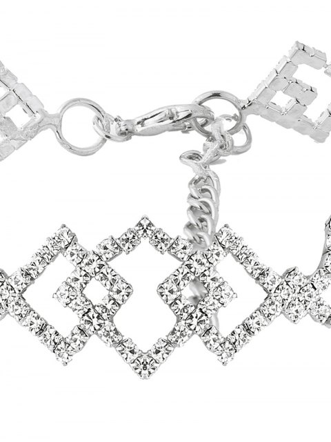 outfits Hollow Out Rhinestoned Rhombus Necklace -   Mobile