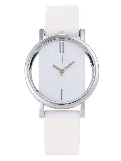 lady Analog Silicone Wrist Watch - WHITE  Mobile