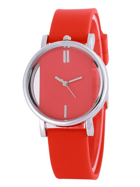 new Analog Silicone Wrist Watch - RED  Mobile