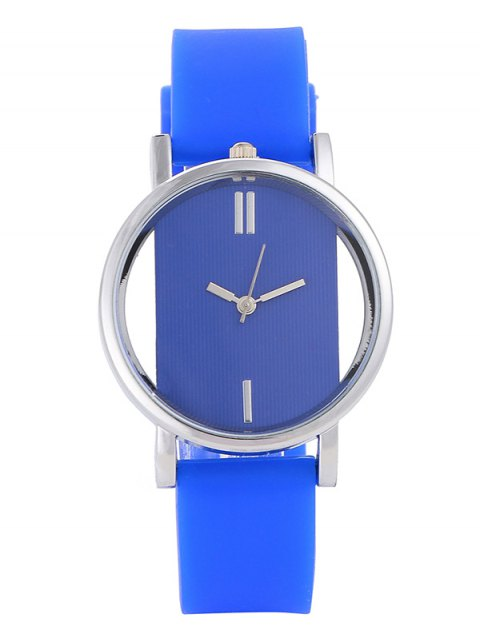 hot Analog Silicone Wrist Watch - BLUE  Mobile
