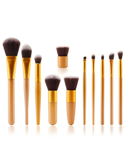 outfits Makeup Brushes + Air Puffs + Beauty Blender - YELLOW  Mobile