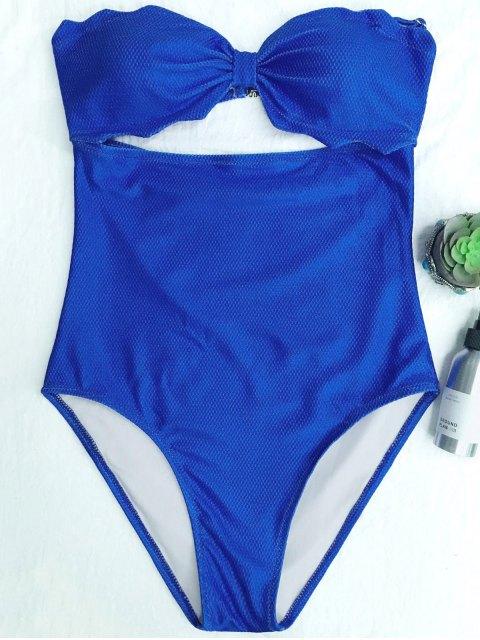 best High Cut Bandeau Swimsuit - BLUE S Mobile