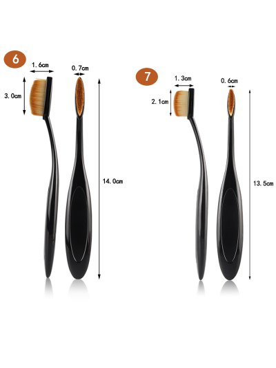 Makeup Brushes and Air Puffs - BLACK  Mobile