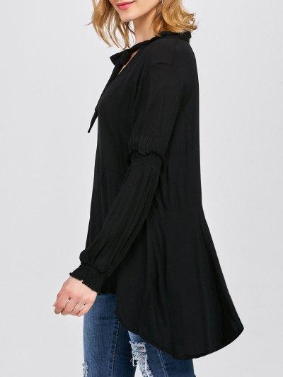 Balloon Sleeve Loose Top - BLACK M Mobile