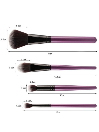 Makeup Brushes + Air Puffs + Beauty Blender - PURPLE  Mobile
