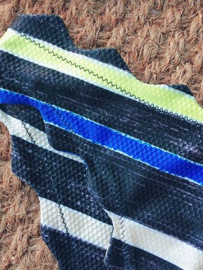Stripe Bandeau Bikini Set - MULTICOLOR S Mobile