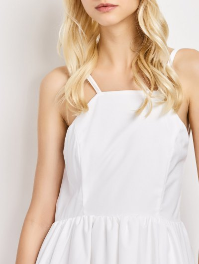 Puffball Backless Prom Dress - WHITE L Mobile