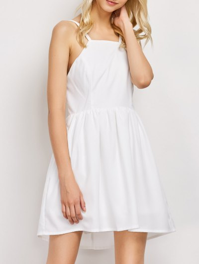 Puffball Backless Prom Dress - WHITE S Mobile