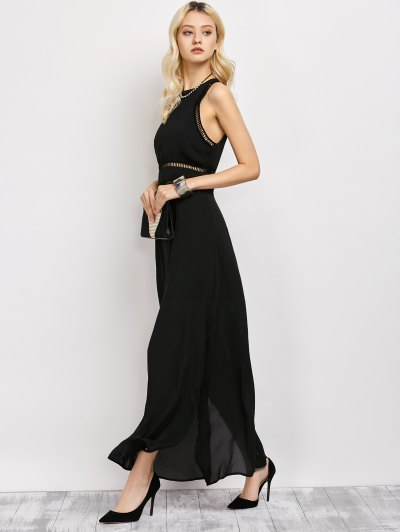 Slit Cut Out Prom Dress - BLACK 2XL Mobile