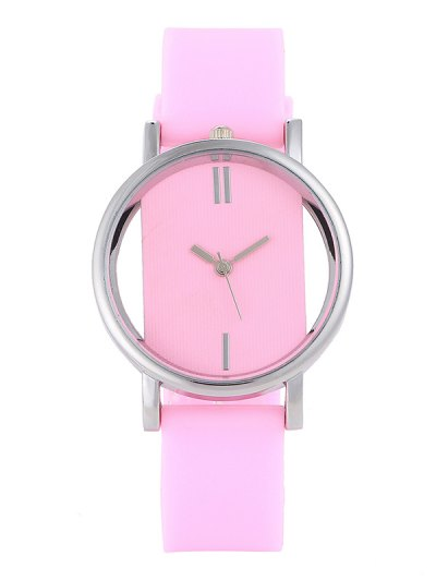 Analog Silicone Wrist Watch - PINK  Mobile