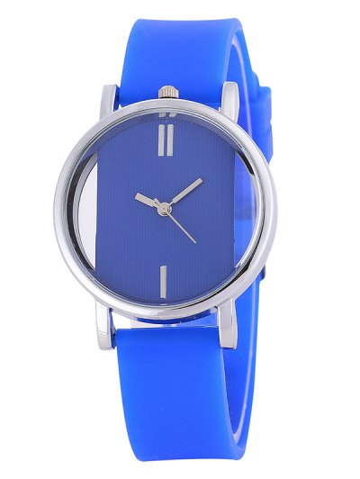 Analog Silicone Wrist Watch - BLUE  Mobile