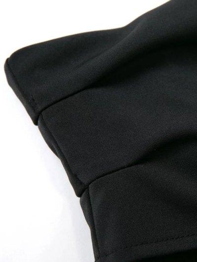 Long Sleeved Off The Shoulder Top - BLACK L Mobile