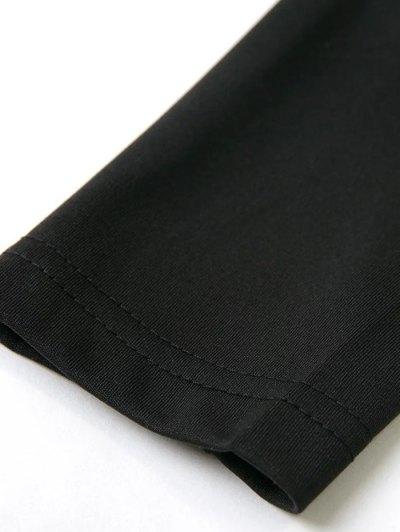 Long Sleeved Off The Shoulder Top - BLACK S Mobile
