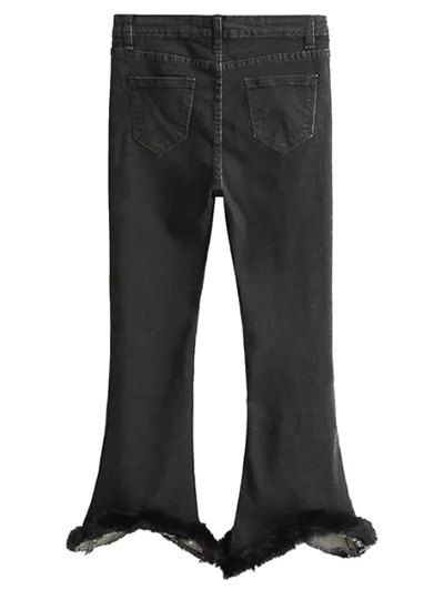 Ninth Fuzzy Flare Jeans - BLACK S Mobile