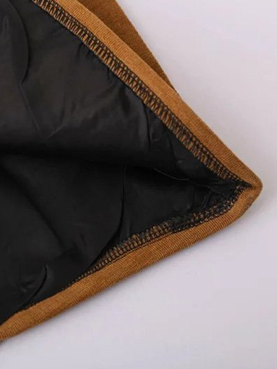 Embroidered Corduroy Skirt - BLACK S Mobile