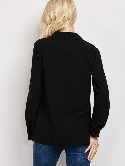 Wrap Cut Out T-Shirt - BLACK 2XL Mobile