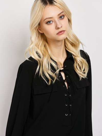 Wrap Cut Out T-Shirt - BLACK XL Mobile