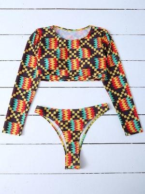 Long Sleeve High Cut Bathing Suit