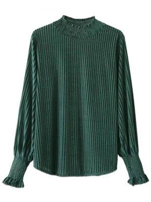 Blusa Corduroy Volantes  - Verde