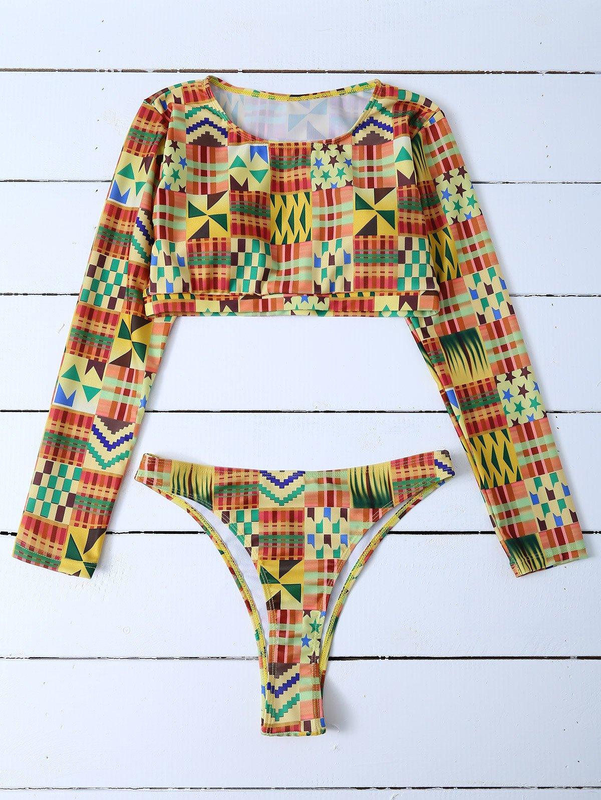 High Cut Long Sleeve Bikini Set