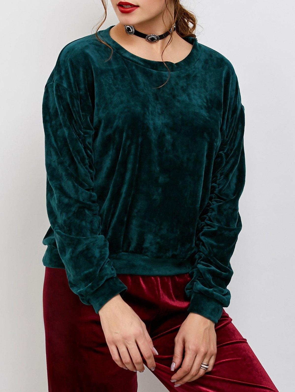 Velvet Oversized Sweatshirt