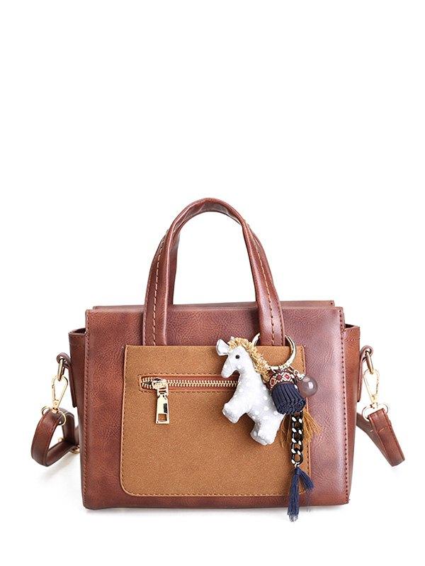 Color Blocking Handbag