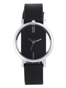 Analog Silicone Wrist Watch - Black