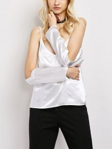 Cold Shoulder Satin Cami Top