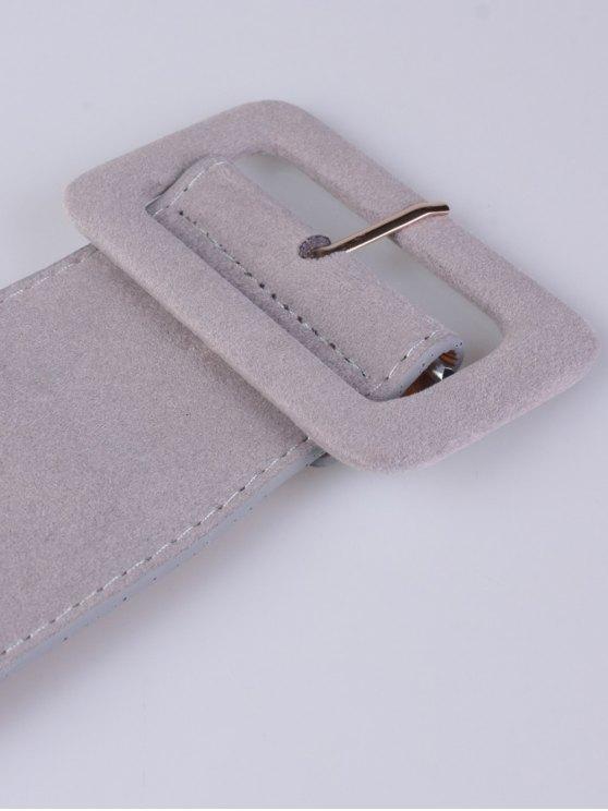 Wide Elastic Belt - GRAY  Mobile