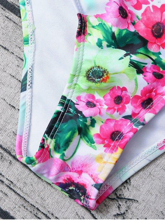 Floral Print Bow Bikini - FLORAL XL Mobile