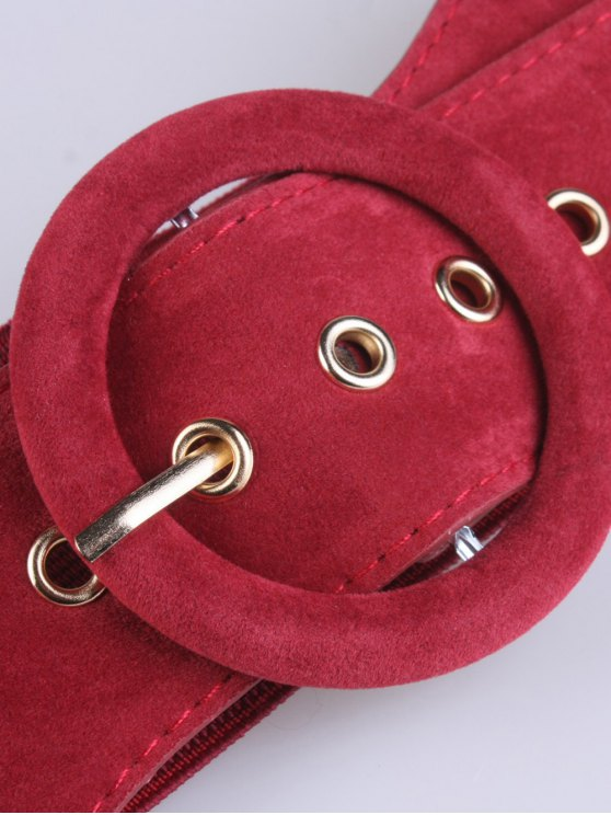 Pin Buckle Elastic Belt - RED  Mobile
